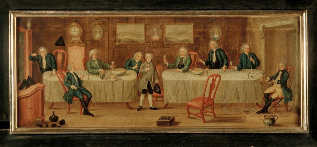 Tavla i Nordiska museets samling, av okänd 1770. Foto Mats Landin, Nordiska museet.