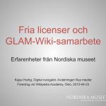 Presentation av Kajsa Hartig vid Wikipedia Academy i Oslo 23 april 2012.