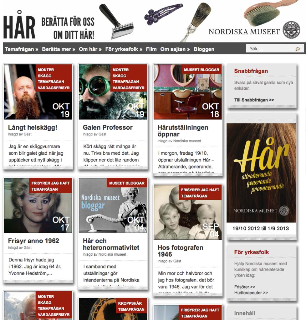 Hårwebben, http://har.blogg.nordiskamuseet.se