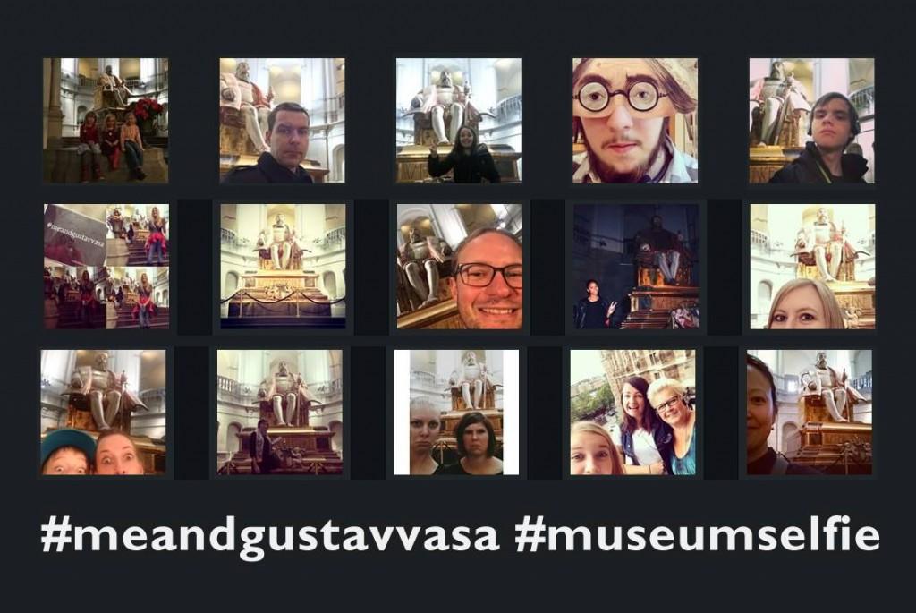 Selfies från Nordiska museet taggade med #meandgustavvasa
